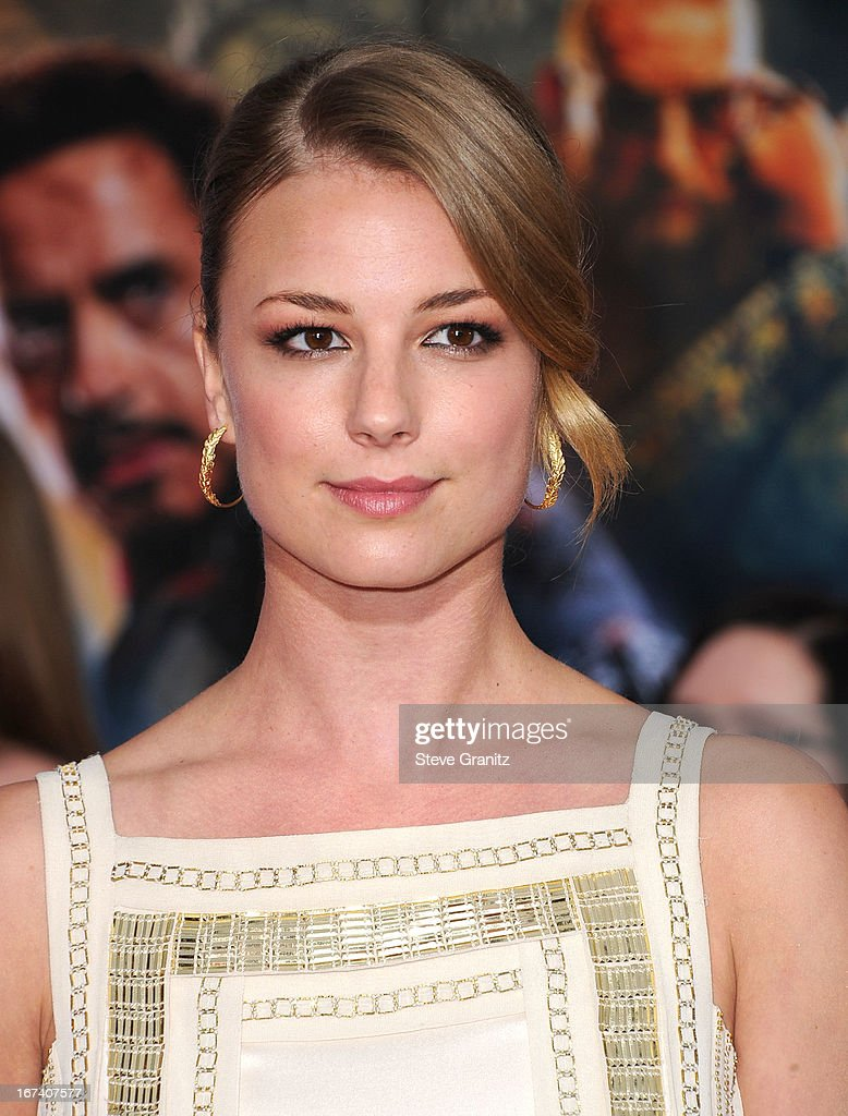 Emily VanCamp arrives at the 'Iron Man 3' - Los Angeles Premiere at the El Capitan Theatre on April 24, 2013 in Hollywood, California.