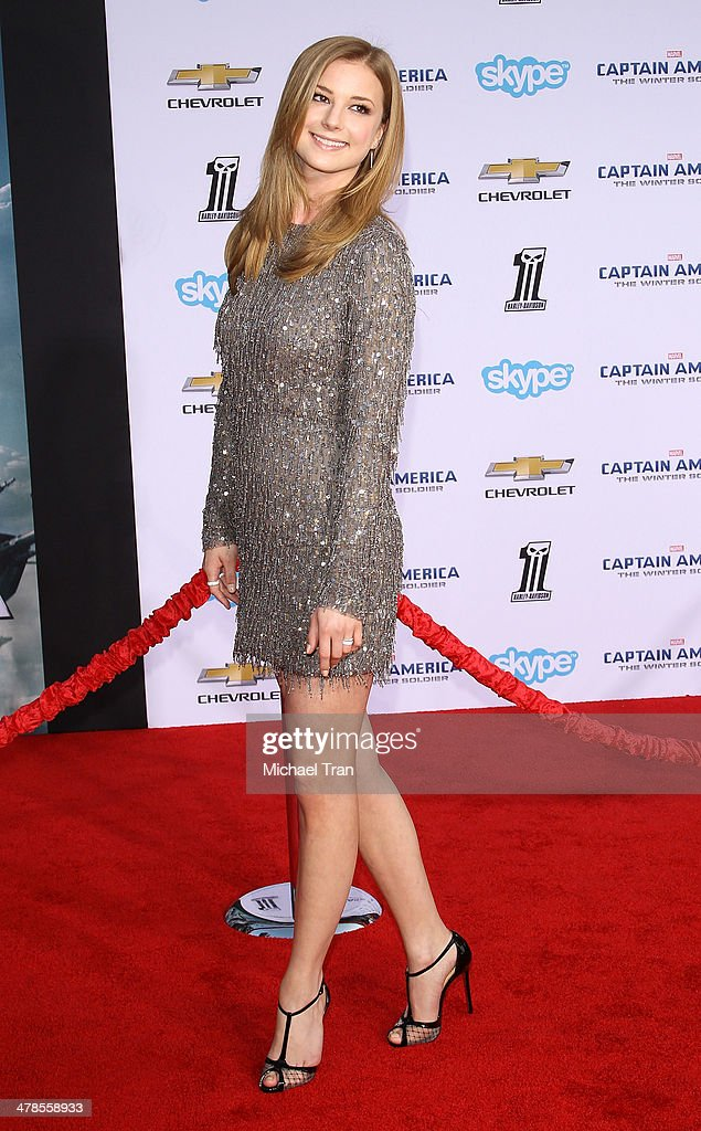 Emily VanCamp arrives at the Los Angeles premiere of 'Captain America The Winter Soldier' held at the El Capitan Theatre on March 13 2014 in...
