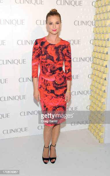 Emily VanCamp attends the Dramatically Different Party Hosted By Clinque at 620 Loft Garden on June 18 2013 in New York City