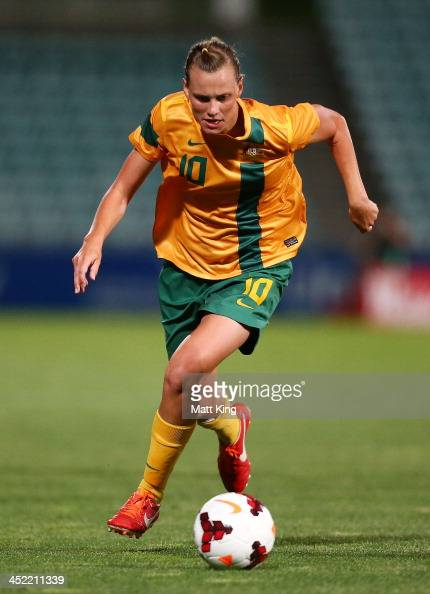 Emily VanEgmond of the Matildas controls the ball during the Women's International Friendly match between the Australian Matildas and China PR at...