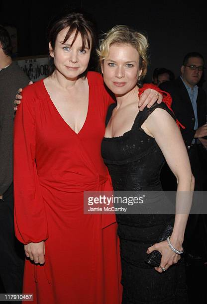 Emily Watson and Renee Zellweger during 'Miss Potter' New York City Premiere Sponsored by The New York Observer L'Oreal Paris and TMobile After Party...