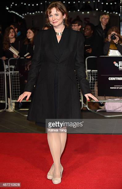 Emily Watson attends a screening of 'Testament of Youth' during the 58th BFI London Film Festival at Odeon Leicester Square on October 14 2014 in...