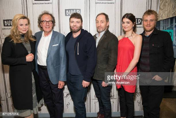 Emily Watson Geoffrey Rush Seth Gabel Michael McElhatton Samantha Colley and Johnny Flynn attend AOL Build Series to discuss their new series...
