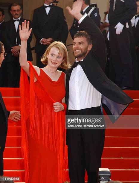 Emily Watson Paul Thomas Anderson during Cannes 2002 'PunchDrunk Love' Premiere in Cannes France