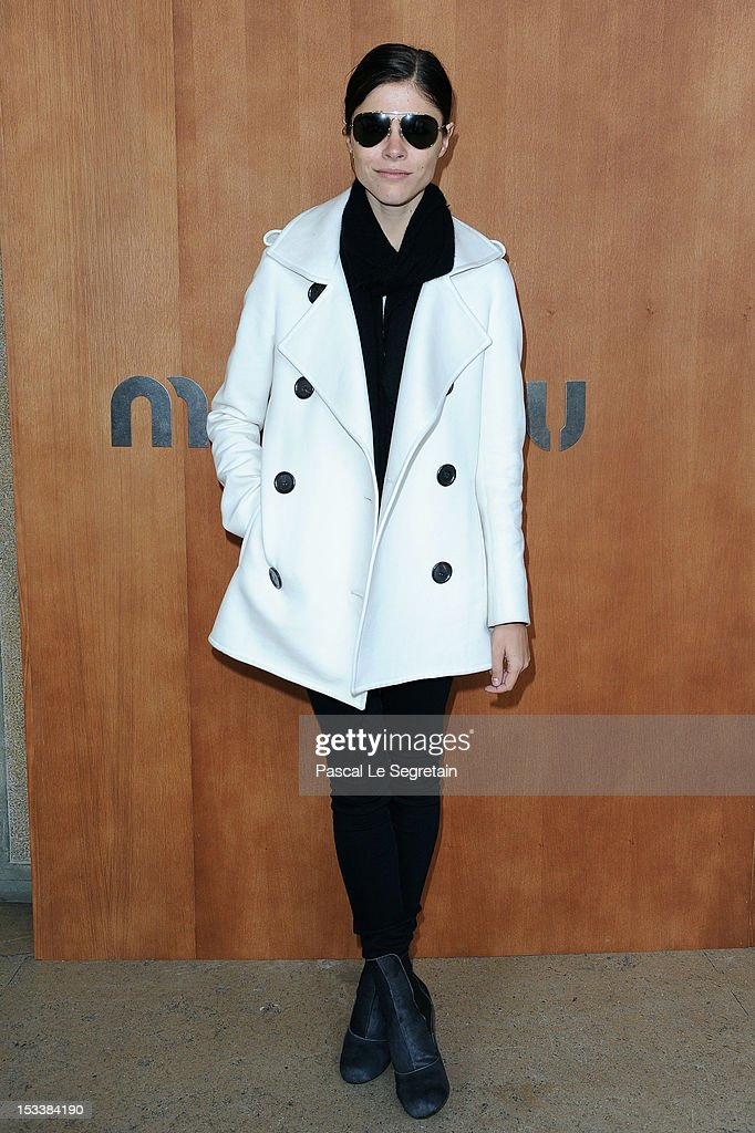 Emily Weiss attends the Miu Miu Spring/Summer 2013 show as part of Paris Fashion Week on October 3, 2012 in Paris, France.