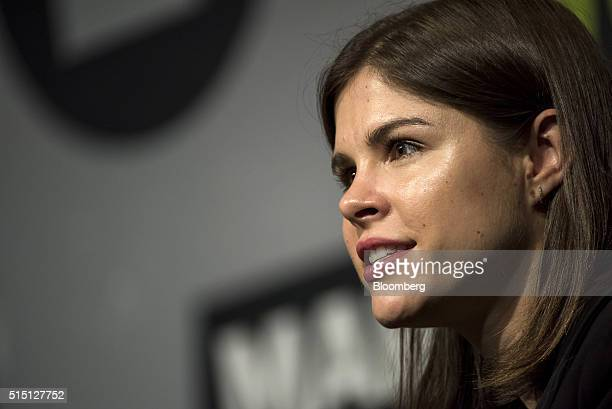 Emily Weiss founder and chief executive officer of Glossier speaks during the South By Southwest Interactive Festival in Austin Texas US on Saturday...