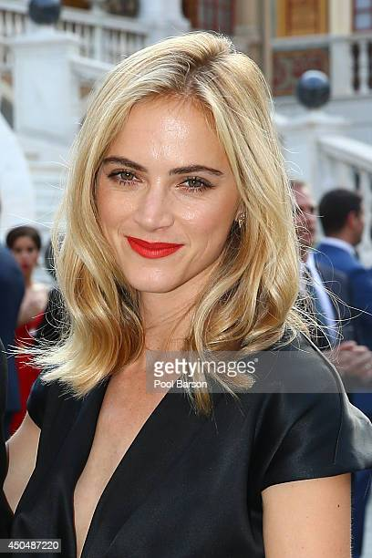 Emily Wickersham attends a Cocktail Reception at Monaco Palace on June 9 2014 in MonteCarlo Monaco