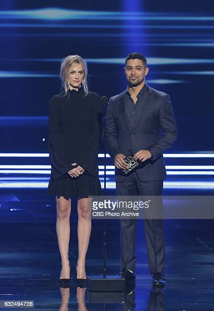 Emily Wickersham Wilmer Valderrama during the PEOPLE'S CHOICE AWARDS 2017 the only major awards show where fans determine the nominees and winners...