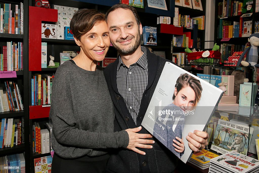 Emily Yomtobian and celebrity photographer Jeff Vespa attend the signing for his book 'The Art of Discovery Hollywood Stars Reveal Their...