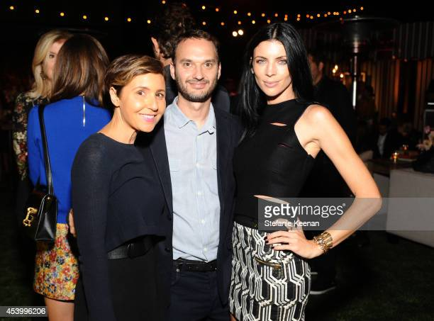 Emily Yomtobian Jeff Vespa and model and designer Liberty Ross attend GENETIC x Liberty Ross Launch on August 22 2014 in Beverly Hills California