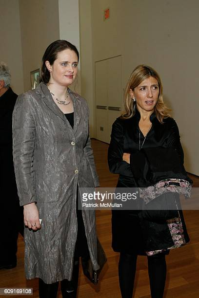 EmilyJane Kirwan and Damiana Leoni attend Jeff Wall Exhibition Dinner at MoMa on February 20 2007 in New York City