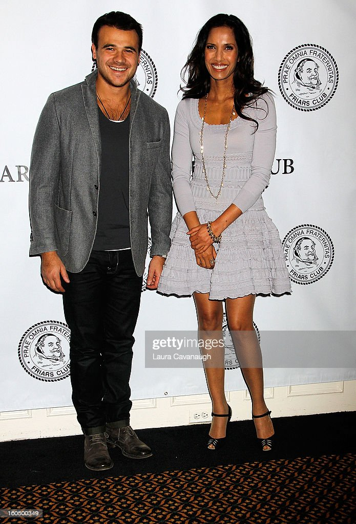Emin and Padma Lakshmi attend The Friars Club Presents: Do You Think You Can Roast?! Padma Lakshmi at New York Friars Club on February 1, 2013 in New York City.