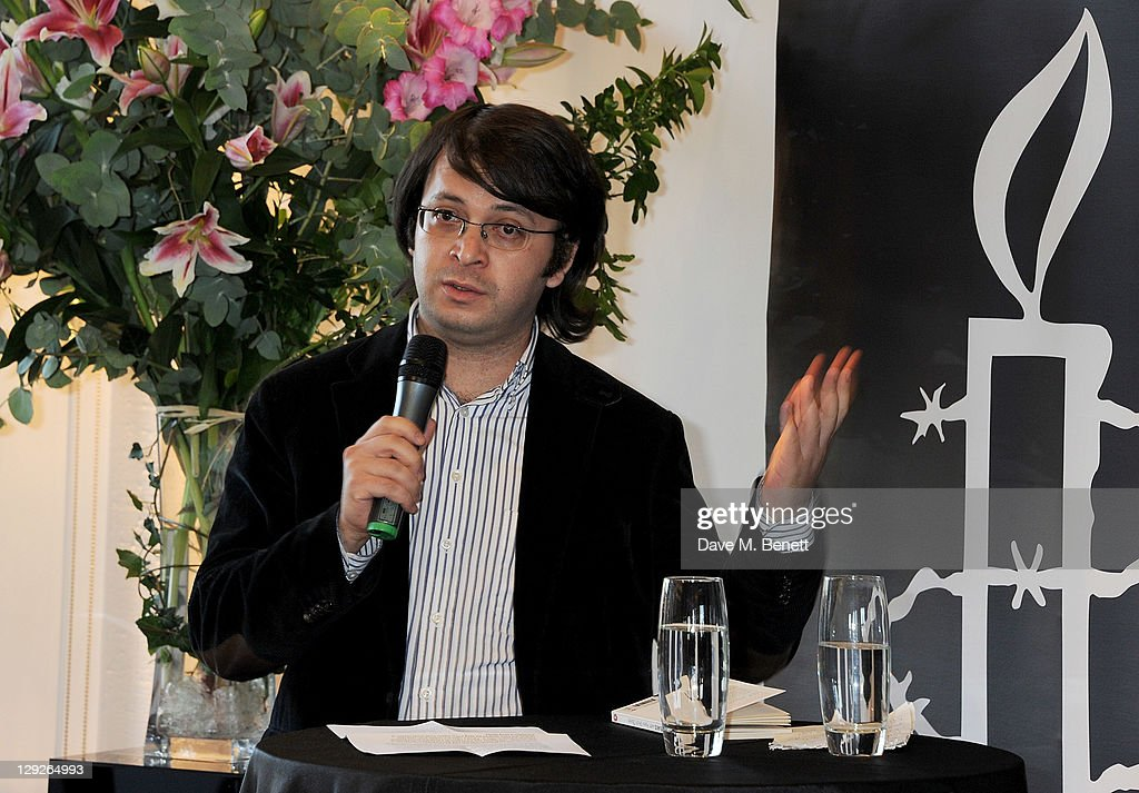 Emin Milli attends the AMNESTEA Party hosted by Patrick Cox to celebrate Amnesty International's 50th Anniversary and launch 'Art Cakes & Cookies' at Royal Institute of British Architects on October 15, 2011 in London, England.