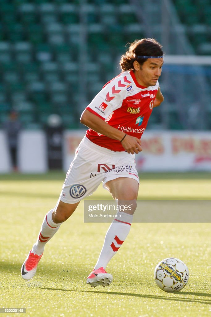 Emin Nouri of Kalmar FF during the Allsvenskan match between GIF Sundsvall and Kalmar FF at Idrottsparken on August 21, 2017 in Sundsvall, Sweden.