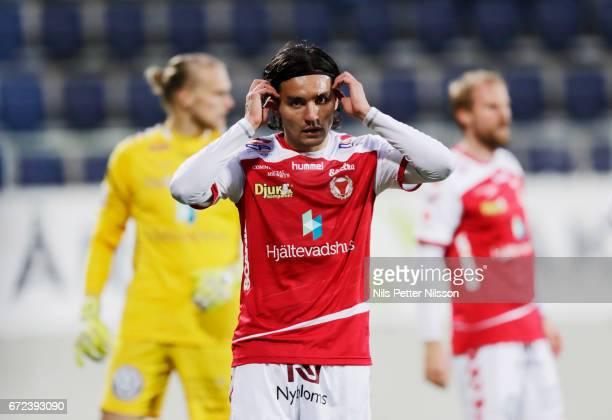 Emin Nouri of Kalmar FF during the Allsvenskan match between IK Sirius FK and Kalmar FF at Gavlevallen on April 24 2017 in Gavle Sweden