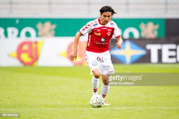 Emin Nouri of Kalmar FF during the Allsvenskan match between Kalmar FF and Orebro SK at Guldfageln Arena on June 3 2017 in Kalmar Sweden