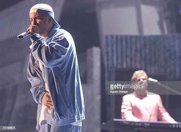 Eminem and Elton John perform at the 43rd Annual Grammy Awards at Staples Center Los Angeles Ca 2/21/01