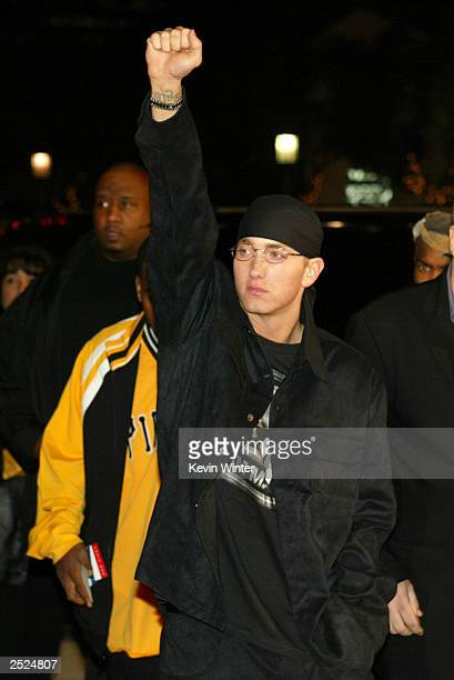 Eminem at the premiere of '8 Mile' at the Village Theatre in Westwood Ca Wednesday Nov 6 2002 Photo by Kevin Winter/Getty Images