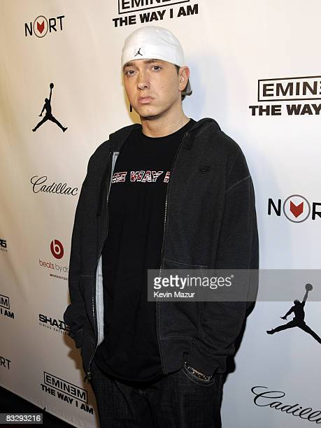 NEW YORK OCTOBER 15 Eminem attends 'Eminem The Way I Am' book release party at Nort/Recon on October 15 2008 in New York