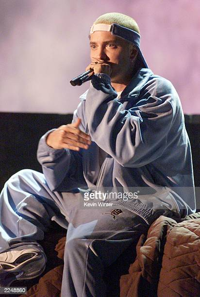 Eminem performed with Elton John at the 43rd Annual Grammy Awards at Staples Center Los Angeles Ca 2/21/01