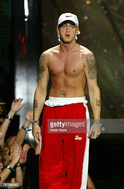 Eminem performs at the 2002 MTV Video Music Awards