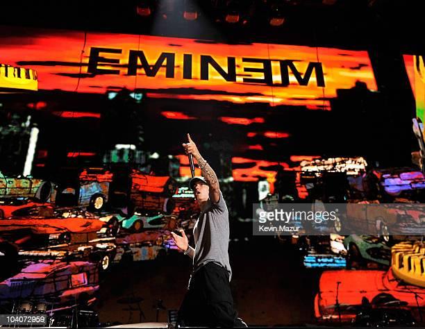 Eminem performs at Yankee Stadium on September 13 2010 in New York City