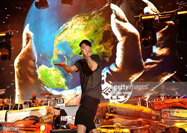 Eminem performs at Yankee Stadium on September 13 2010 in New York City