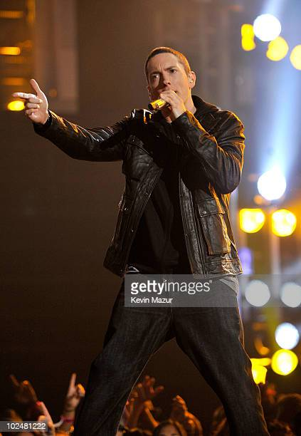 Eminem performs onstage during the 2010 BET Awards held at the Shrine Auditorium on June 27 2010 in Los Angeles California