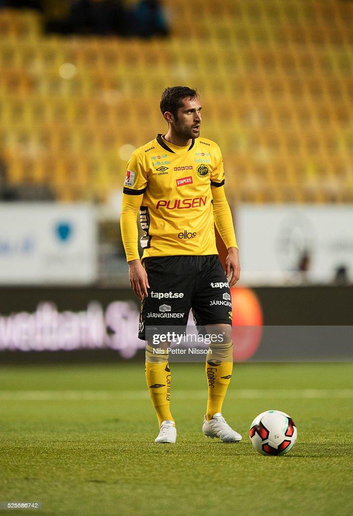 Emir Barjrami of IF Elfsborg during the Allsvenskan match between IF Elfsborg and Djurgardens IF at Boras Arena on April 28, 2016 in Boras, Sweden.