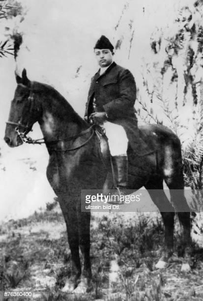 Emir King of Afghanistan Amanullah Khan on a horse Vintage property of ullstein bild