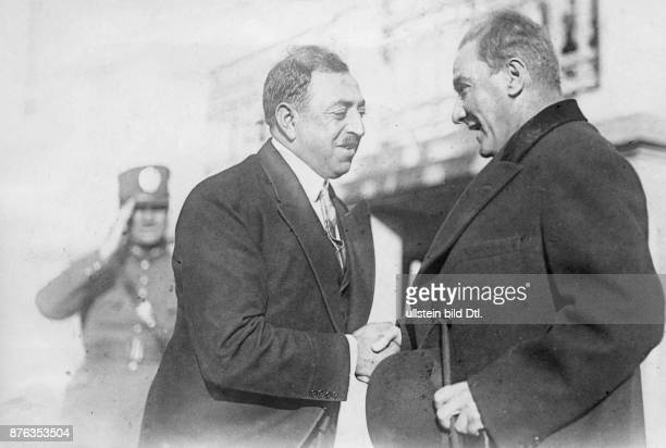 Emir King of Afghanistan Amanullah Khan´s travel through Europe Turkey Amanullah Khan and the Turkish president of the state Mustafa Kemal Atatürk...