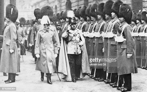 Emir King of Afghanistan Amanullah Khan´s travel through Europe here in England After the arrival in London Amanullah Khan and King George V take the...