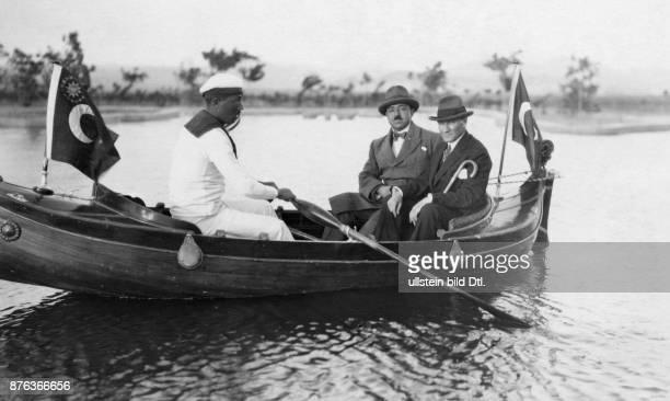 Emir King of Afghanistan Amanullah Khan´s travel through Europe Turkey Amanullah Khan and the Turkish president of the state Mustafa Kemal Atatürk on...