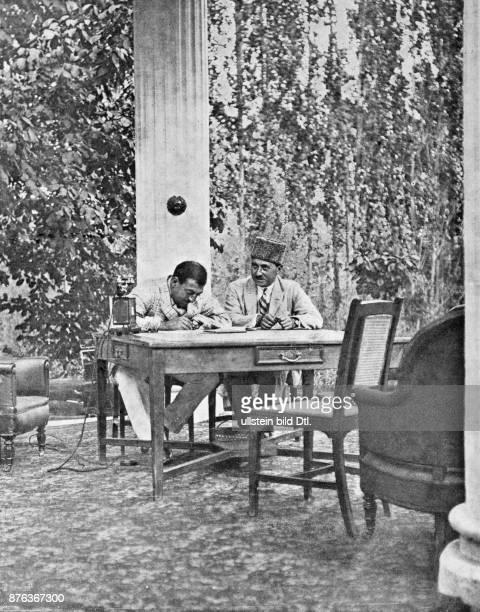 Emir King of Afghanistan The King Amanullah Khan learns French Vintage property of ullstein bild