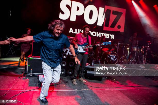 Emir Kusturica performs on stage on August 26 2017 in Avellino Italy
