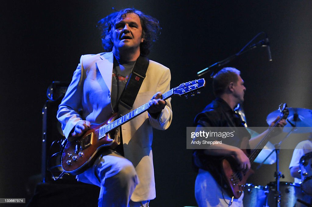 <a gi-track='captionPersonalityLinkClicked' href=/galleries/search?phrase=Emir+Kusturica&family=editorial&specificpeople=210555 ng-click='$event.stopPropagation()'>Emir Kusturica</a> performs on stage with The No Smoking Orchestra at Royal Festival Hall during Day 9 of the London Jazz Festival 2011 on November 19, 2011 in London, United Kingdom.