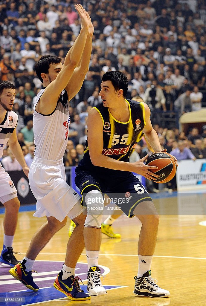 Emir Preldzic, #55 of Fenerbahce Ulker Istanbul in action during the 2013-2014 Turkish Airlines Euroleague Regular Season Date 4 game between Partizan NIS Belgrade v Fenerbahce Ulker Istanbul at Pionir on November 8, 2013 in Belgrade, Serbia.