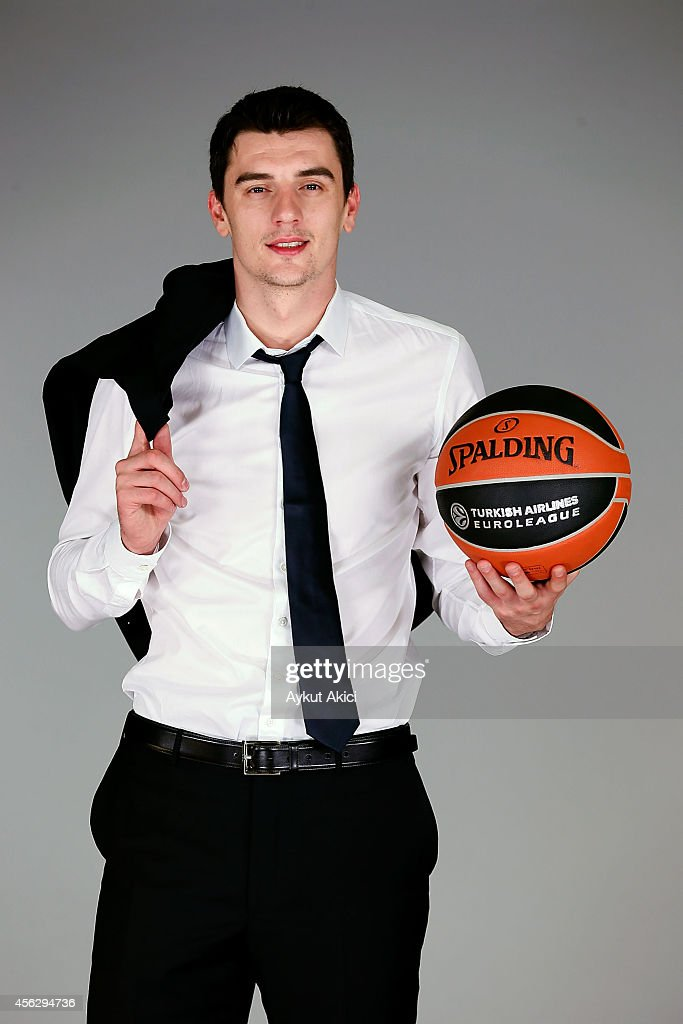 Emir Preldzic, #55 poses during the Fenerbahce Ulker Istanbul 2014/2015 Turkish Airlines Euroleague Basketball Media Day at Ulker Sport Arena on September 27, 2014 in Istanbul, Turkey.