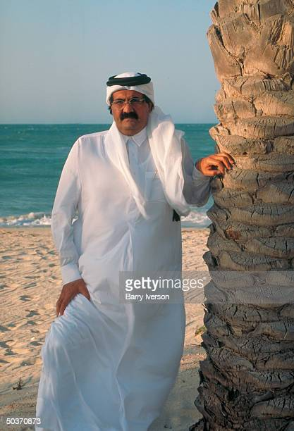Emir Sheikh Hamad bin Khalifa alThani enjoying leisure time on beach