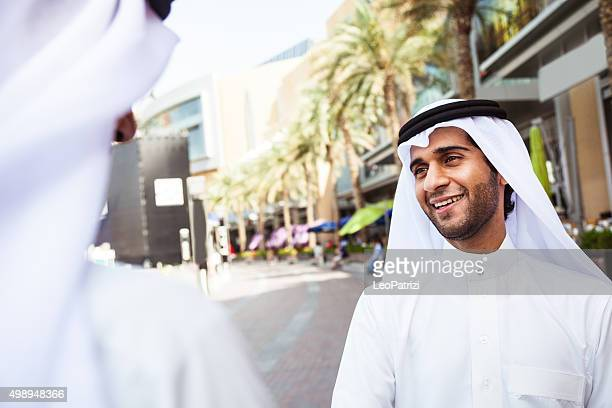 Emirates Business men downtown Dubai
