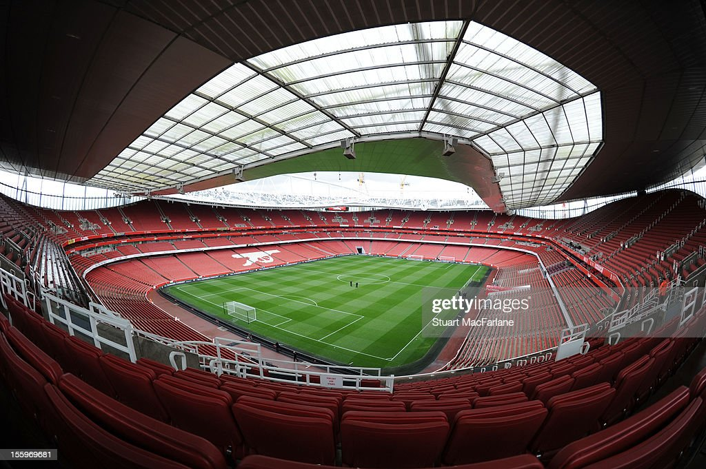 Emirates Stadium before the Barclays Premier League match between Arsenal and Fulham on November 10, 2012 in London, England.