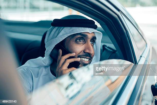 Emirati Businessman in a car