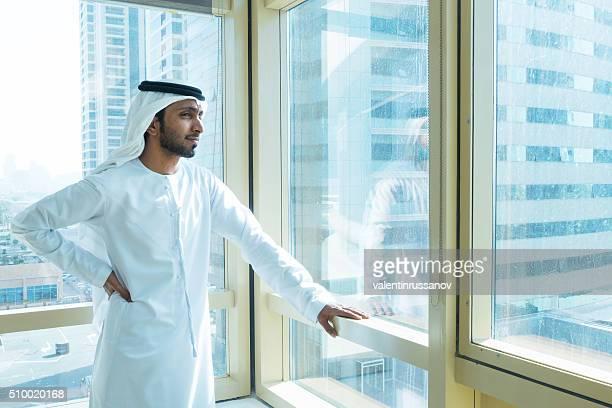 Emirati businessmen in Dubai at the office