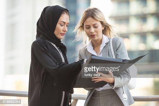 Emirati businesswoman and western expat