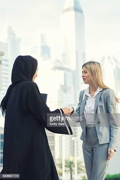 Emirati businesswoman with expat