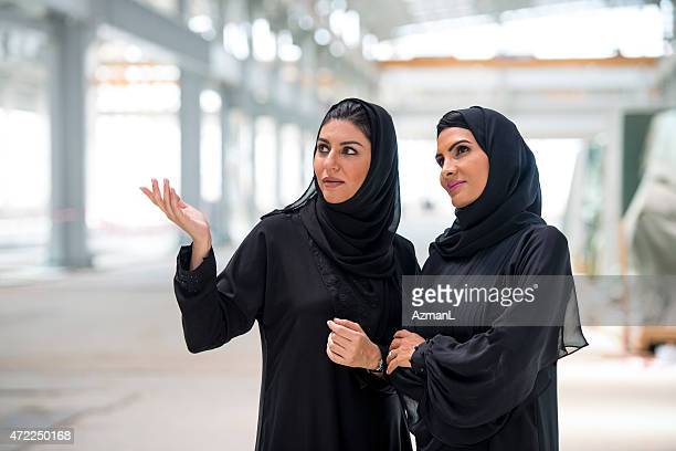 Emirati Businesswomen on a Construction Site