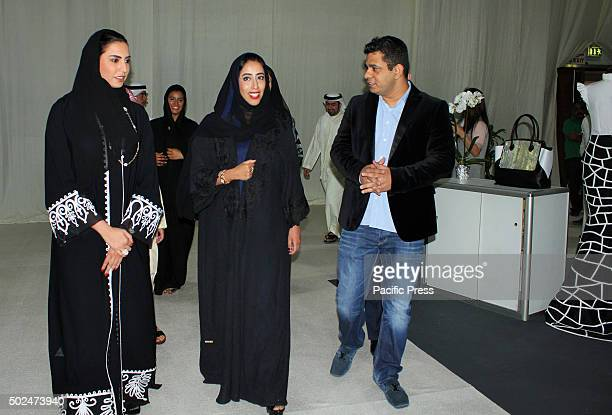 Emirati entrepreneur and Modern Woman Show event coorganizer Reem Al Zarouni Director General of Government of Dubai Media Office Her Excellency Mona...