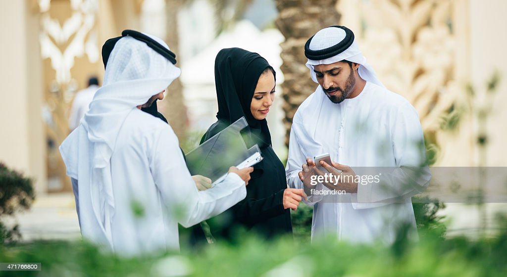 Emirati outdoors business conversation