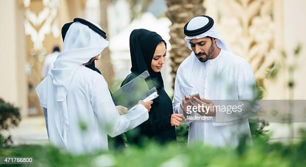 Emirati outdoors business conversation