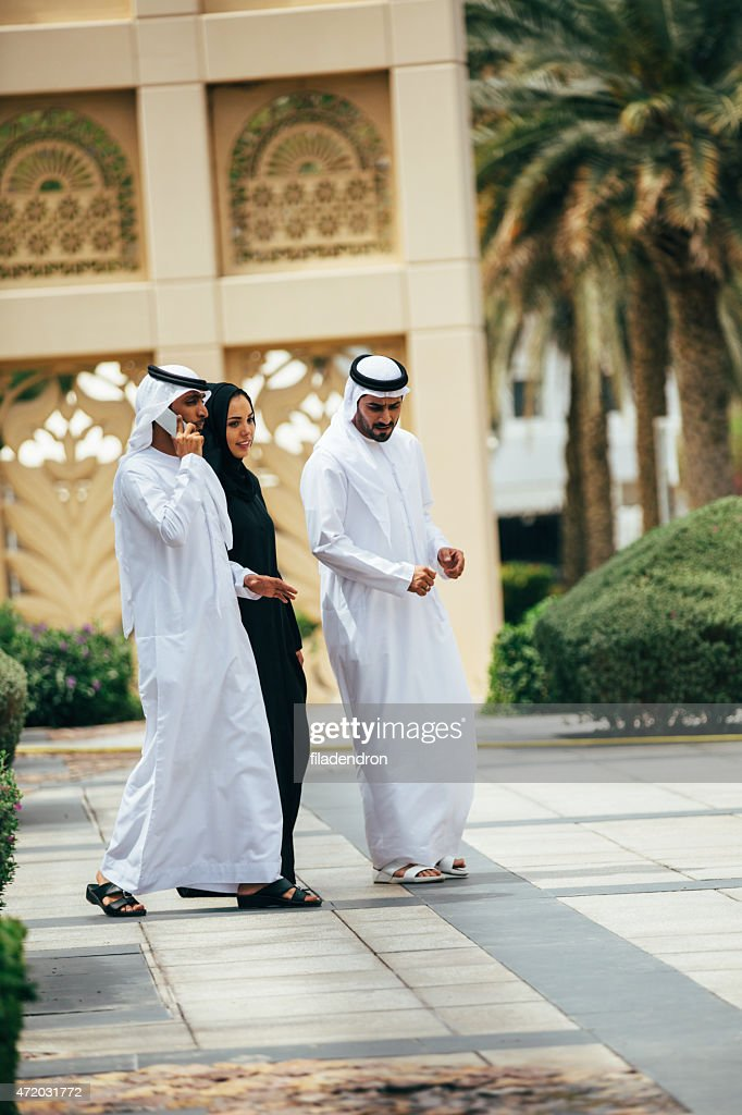 Emirati outdoors business meeting